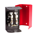 Space Age SSU MR-199X14CR, Heavy-Duty 120VAC Relay, 30A, DPDT, 1 Position, Red Enclosure