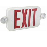 Orbit EECMPL-W-R Micro Led Emergency Light/Exit Sign Combo Unit With Battery Back-Up