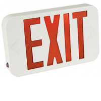 Orbit ESBLM-W-R Micro Thermoplastic Led Exit Sign With Battery Back-Up