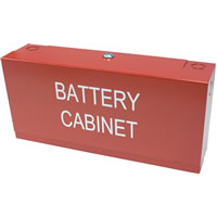 Space Age Electronics SSU00505, MBC Mini Battery Cabinet, Red Finish