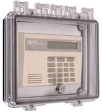 STI 7500E Polycarbonate Enclosure w/ Open Backbox for Flush Mount Applications, Interior Key Lock