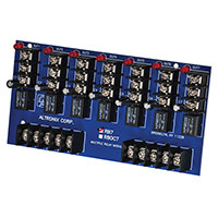 Altronix RB7, Ultra Sensitive Relay Cluster - 12VDC or 24VDC operation, 3VDC to 24VDC positive trigger inputs