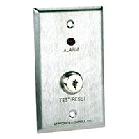 Air Products & Controls MS-KA/R, Remote with Red Alarm LED & Key test reset