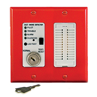 Air Products & Controls MSR-100RA/R, Remote with Sounder w/ Red Double Gang Cover Plate
