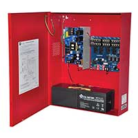 Altronix AL842ULADA, NAC Power Extender, 4 Class A or 4 Class B Outputs, 24VDC @ 8A, 115VAC, Red BC400 Enclosure