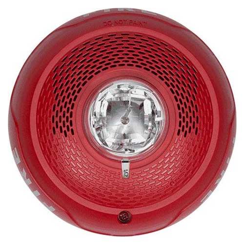System Sensor Spscrl L Series Red Ceiling Speaker Strobe