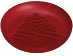 System Sensor SPCR, 24VDC Ceiling Speaker, Red
