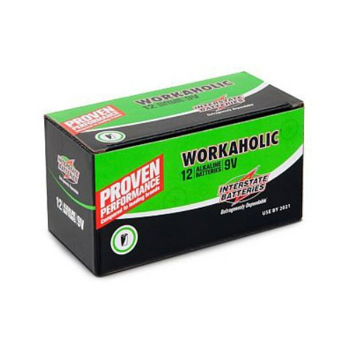 interstate dry0196 9v workaholic alkaline 12 pack. Black Bedroom Furniture Sets. Home Design Ideas