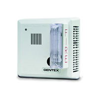 Gentex 713CS-C, 120V AC P/E Smoke with Strobe & Temporal 3 Sounder, Contacts, Ceiling-Mount