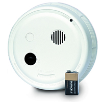 Gentex 9120F, P/E Smoke Detector, 120VAC w/Piezo Sounder, Form A/C Contacts, 9V Backup