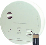 Gentex CO1209F, 120VAC CO Detector with 9V Battery Backup, Relay
