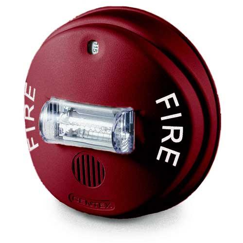Gcc24cr 24vdc Horn Strobe Selectable Candela Ceiling Red