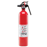 Kidde KN FA110-NYL, Recreational Fire Extinguisher, 1-A, 10-B:C, 2.5 lbs., Red