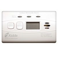 Kidde KN C3010D, DC Carbon Monoxide Alarm, Digital, Ten Year Sealed Lithium Battery