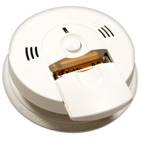 Kidde KN-COSM-IBA, AC/DC Wire-In Intelligent Ion Smoke/CO Alarm, Front Load Battery, Voice