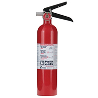 Kidde KN Pro110, Fire Extinguisher, 1-A, 10-B:C, 2.6 lbs., Wall Hook, Rechargeable