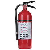 Kidde KN Pro210, Fire Extinguisher, 2-A, 10-B:C, 4 lbs., Wall Hook, Rechargeable