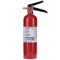 Kidde KN PRO2_5MP,Fire Extinguisher, 1-A, 10-B:C, 2.6 lbs., Wall Hook, Rechargeable