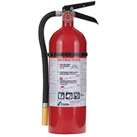 Kidde KN Pro340, Fire Extinguisher, 3-A, 40-B:C, 5.5 lbs., Wall Hook, Rechargeable