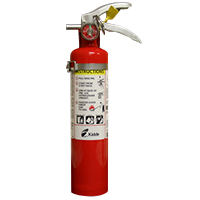 Kidde KN ProPlus2_5MP, Fire Extinguisher, 1-A, 10-B:C, 2.6 lbs., Metal Brkt, Rechargeable