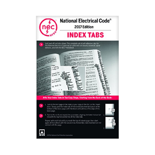 National Electrical Code : Nfpa nec tabs edition self adhesive affix to