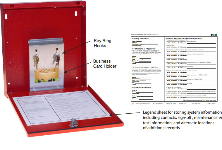 Fire Alarm Documentation : Space age electronics fdb fire alarm documents box