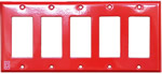 Space Age IGP5R, Infinity Gang Plate, 5 Gang, Red