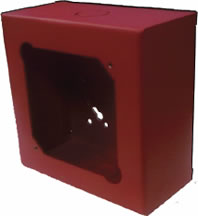 SAE SSU09038 5-Inch Deep Surface Back Box, Red