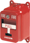 SigCom Single-Action Explosion Proof Pull Station - RED