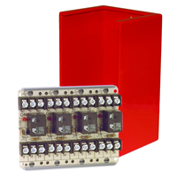 Space Age SSU MR-704/C/R, Multi-Purpose Series Relay, 10A, SPDT, 4 Position, Red Enclosure