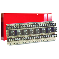 Space Age Multi-Purpose Series Relay, 10A, SPDT, 8 Position, Red Enclosure