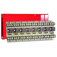 Space Age SSU MR-808/C/R, Multi-Voltage Series Relay, 10A, SPDT, 8 Position, Red Enclosure