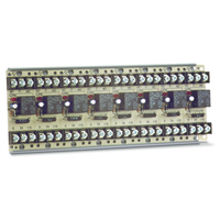 Space Age SSU MR-808/T, Multi-Voltage Series Relay, 10A, SPDT, 8 Position, Track-Mount
