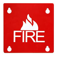 Space Age SSU00460 FP4, 4 In.  Sq. Fire Plate (10 Pkg)