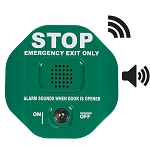 STI-6400WIRG, Wireless Exit Stopper Multifunction Door Alarm, Green