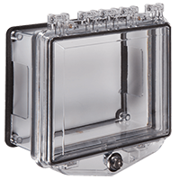 STI-7510D, Poly Enclosure w/Open Conduit Backbox for Surface Mount, Exterior Key Lock