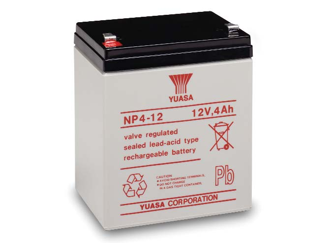 the yuasa np4 12 is a 12v 4ah sealed lead acid battery. Black Bedroom Furniture Sets. Home Design Ideas