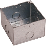 Space Age Electronics SSU09030, 4 x 4 x 2 .75-in Electrical Box w/Tabs, Steel Finish