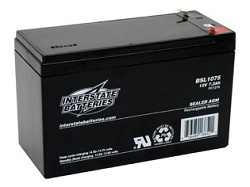 Interstate BSL1075, 12V/7.2 AH SLA Battery