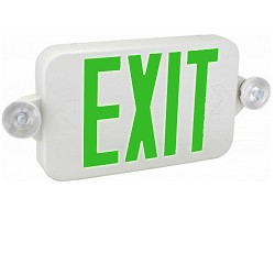 Orbit EECMPL-W-G Micro Led Emergency Light/Exit Sign Combo Unit With Battery Back-Up