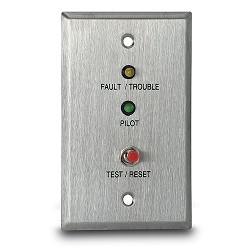 Air Products & Controls MS-RA/FT/P, Remote Pilot, with Trouble & Push Button for Single Gang Box