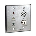 Air Products & Controls MS-RH/KA/P/A/T, Double Gang Stainless Key Test/Reset w/Horn, Alarm, Pilot, and Trouble LEDs