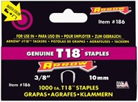 Arrow 3/8in Staples for T18, 1000 pack