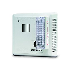 Gentex 710CS-W, 120V AC P/E Smoke with Strobe & Piezo Sounder, Contacts, Wall-Mount
