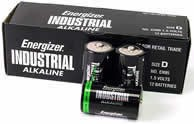 Energizer Industrial - D-size (12 pack)