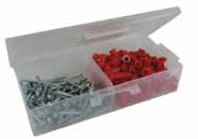 LH Dottie RD-3, Red Collar Plastic Anchor Kit, Includes 1/4-in Carbide Drill Bit