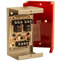 Space Age SSU MR-201/C/R, Multi-Voltage Control Relay, 10A, DPDT, 1 Position, Red Enclosure