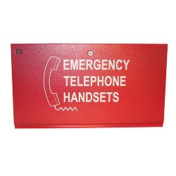 Space Age SSU00566,Firefighter Phone Cabinet, Size A for 5 phones
