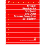 NFPA 80: Standard for fire doors & other opening protective