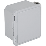 STI EF100806-O, Fiberglass Enclosure, Opaque Hinged Door - 10.73-in H x 8.74-in W x 6.06-in D